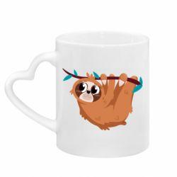 Кружка з ручкою у вигляді серця Cute sloth