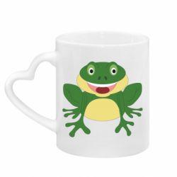 Кружка с ручкой в виде сердца Cute toad