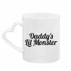 Кружка з ручкою у вигляді серця Daddy's Lil Monster