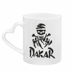 Кружка с ручкой в виде сердца DAKAR LOGO