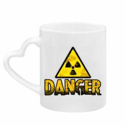 Кружка з ручкою у вигляді серця Danger icon
