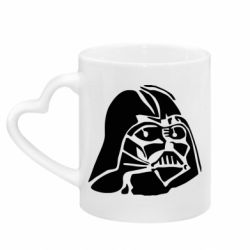 Кружка с ручкой в виде сердца Darth Vader