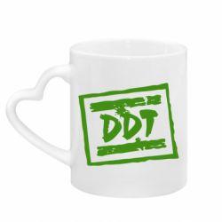 Кружка з ручкою у вигляді серця DDT (ДДТ)