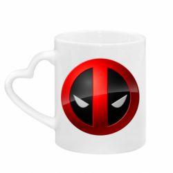 Кружка с ручкой в виде сердца Deadpool Logo