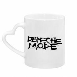Кружка с ручкой в виде сердца Depeche mode
