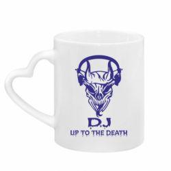 Кружка з ручкою у вигляді серця Dj Up to the Dead