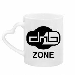 Кружка с ручкой в виде сердца DnB Zone