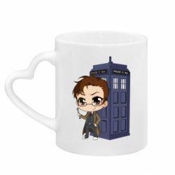 Кружка з ручкою у вигляді серця Doctor who is 10 season2