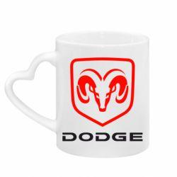 Кружка з ручкою у вигляді серця DODGE