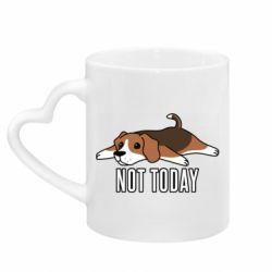 Кружка с ручкой в виде сердца Dog not today
