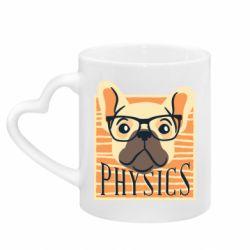 Кружка с ручкой в виде сердца Dog Physicist