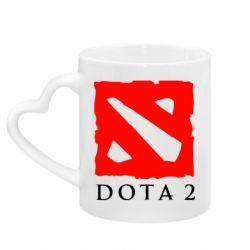 Кружка с ручкой в виде сердца Dota 2 Big Logo
