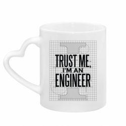 Кружка з ручкою у вигляді серця Довірся мені я інженер