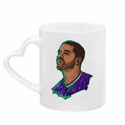Кружка с ручкой в виде сердца Drake