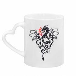 Кружка з ручкою у вигляді серця Дракон