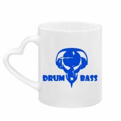 Кружка з ручкою у вигляді серця Drumm Bass
