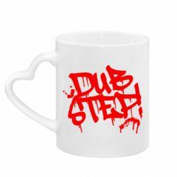 Кружка с ручкой в виде сердца Dub Step Граффити