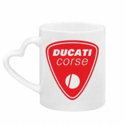 Кружка с ручкой в виде сердца Ducati Corse