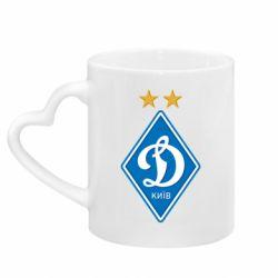 Кружка с ручкой в виде сердца Dynamo Kiev