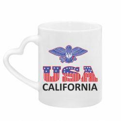 Кружка с ручкой в виде сердца Eagle USA