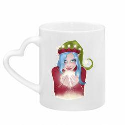 Кружка с ручкой в виде сердца Elf girl