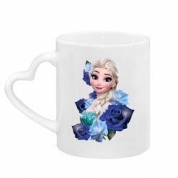 Кружка з ручкою у вигляді серця Elsa and roses