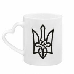 Кружка с ручкой в виде сердца Emblem 22