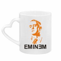 Кружка с ручкой в виде сердца Eminem Logo