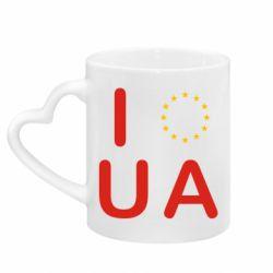 Кружка с ручкой в виде сердца Euro UA