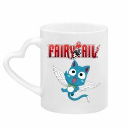 Кружка з ручкою у вигляді серця Fairy tail Happy