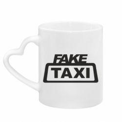 Кружка з ручкою у вигляді серця Fake Taxi