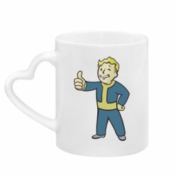 Кружка с ручкой в виде сердца Fallout Boy