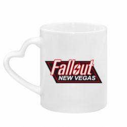 Кружка с ручкой в виде сердца Fallout New Vegas