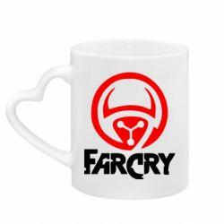 Кружка с ручкой в виде сердца FarCry LOgo