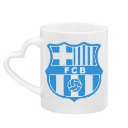Кружка с ручкой в виде сердца FC Barcelona