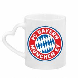 Кружка з ручкою у вигляді серця FC Bayern Munchen