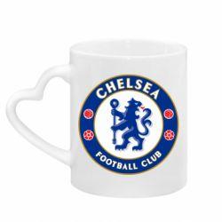 Кружка с ручкой в виде сердца FC Chelsea