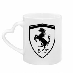 Кружка з ручкою у вигляді серця Ferrari horse