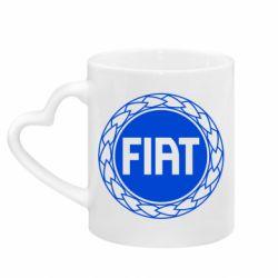 Кружка з ручкою у вигляді серця Fiat logo