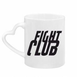Кружка з ручкою у вигляді серця Fight Club