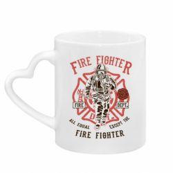 Кружка з ручкою у вигляді серця Fire Fighter