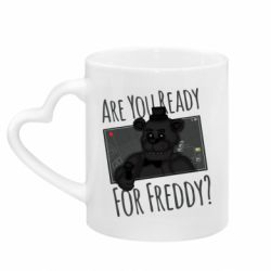 Кружка с ручкой в виде сердца Five Nights at Freddy's 1