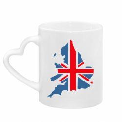 Кружка с ручкой в виде сердца Флаг Англии