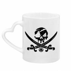 Кружка з ручкою у вигляді серця Flag pirate