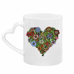 Кружка з ручкою у вигляді серця Flower heart