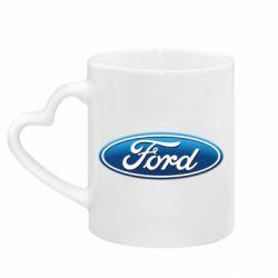 Кружка с ручкой в виде сердца Ford 3D Logo