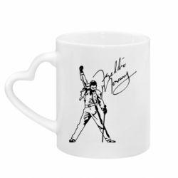 Кружка з ручкою у вигляді серця Freddie Mercury Queen