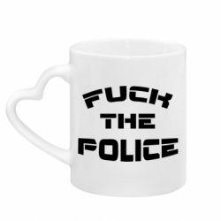Кружка з ручкою у вигляді серця Fuck The Police До біса поліцію