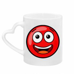 Кружка з ручкою у вигляді серця Funny Red Ball
