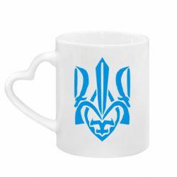 Кружка з ручкою у вигляді серця Гарний герб України